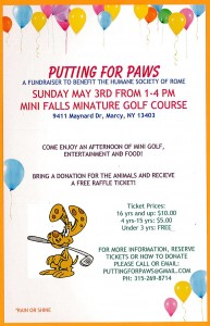 Putting For Paws ~ Mini Golf Fundraiser @ Mini Falls Miniature Golf | Marcy | New York | United States