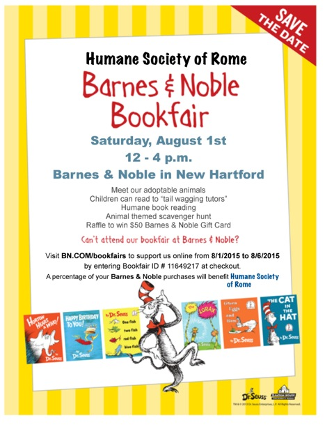 2015 Dr. Seuss Bookfair flyer