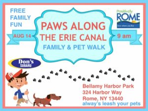 Paws Along the Erie Canal @ Bellany Harbor Park | Rome | New York | United States