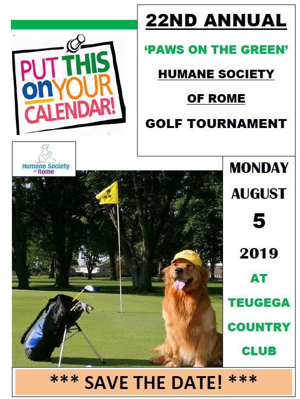 Paws On the Green Golf Tournament @ Teugega Country Club